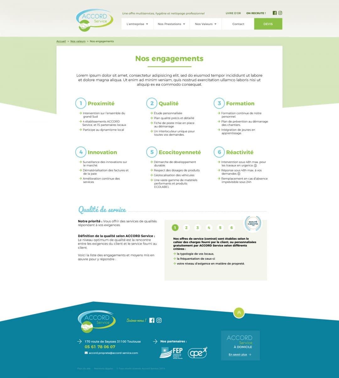 Accord Service - Page de texte