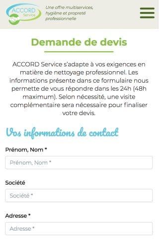 Accord Service - demande devis