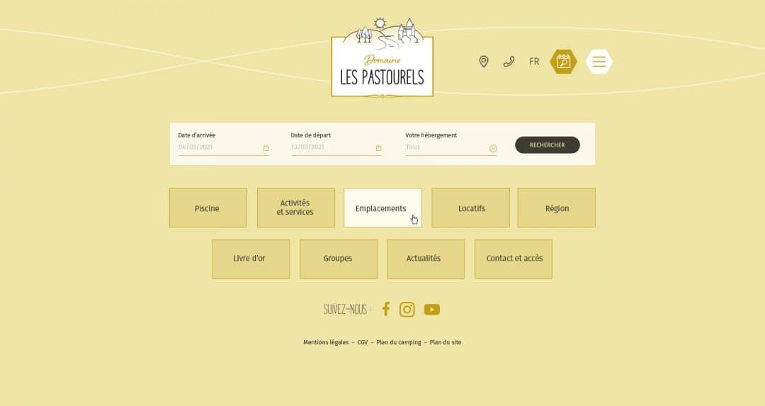 Camping Les Pastourels - Menu
