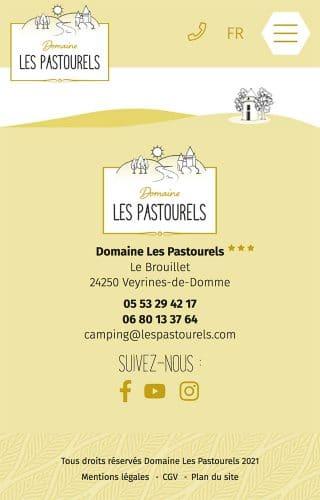 Les Pastourels - pied de page